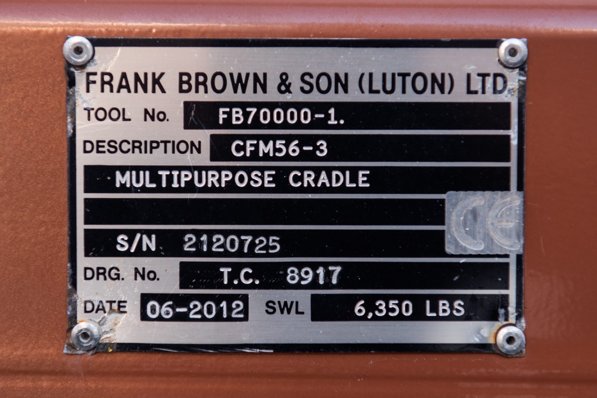 CFM56-3 Frank Brown & Sons serial number