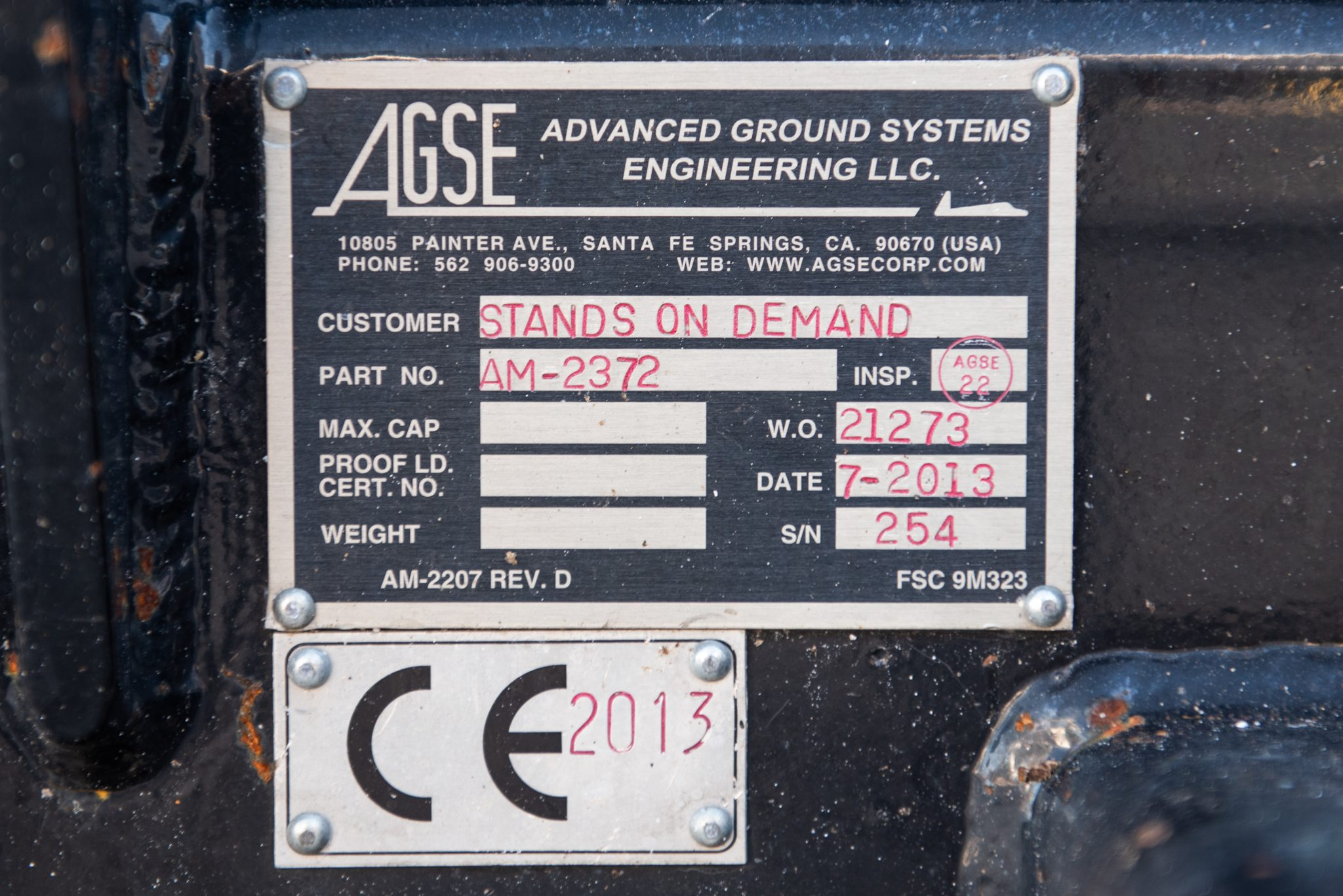 PW4000-JT9D AGSE serial number