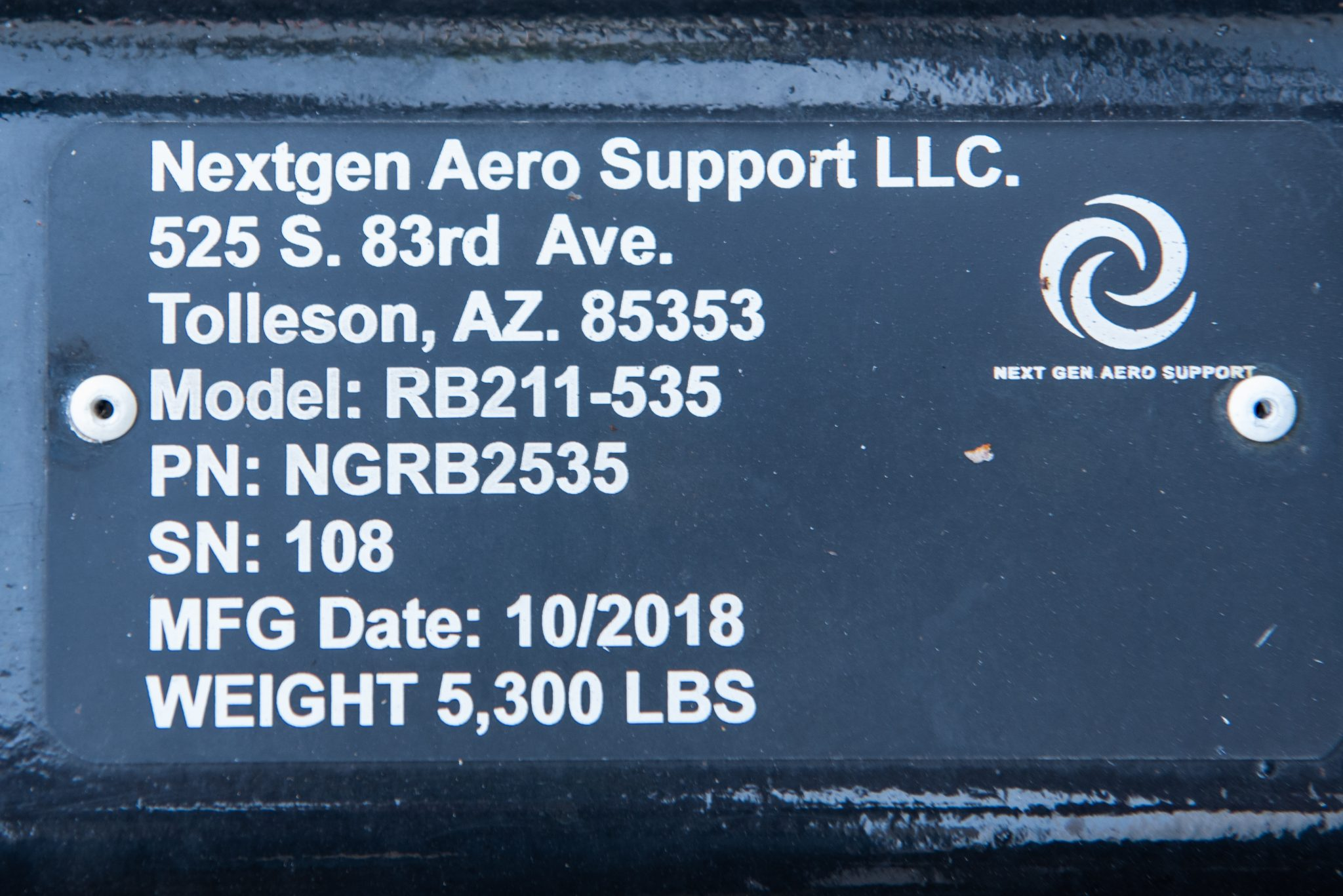 RB211-535 Nextgen serial number
