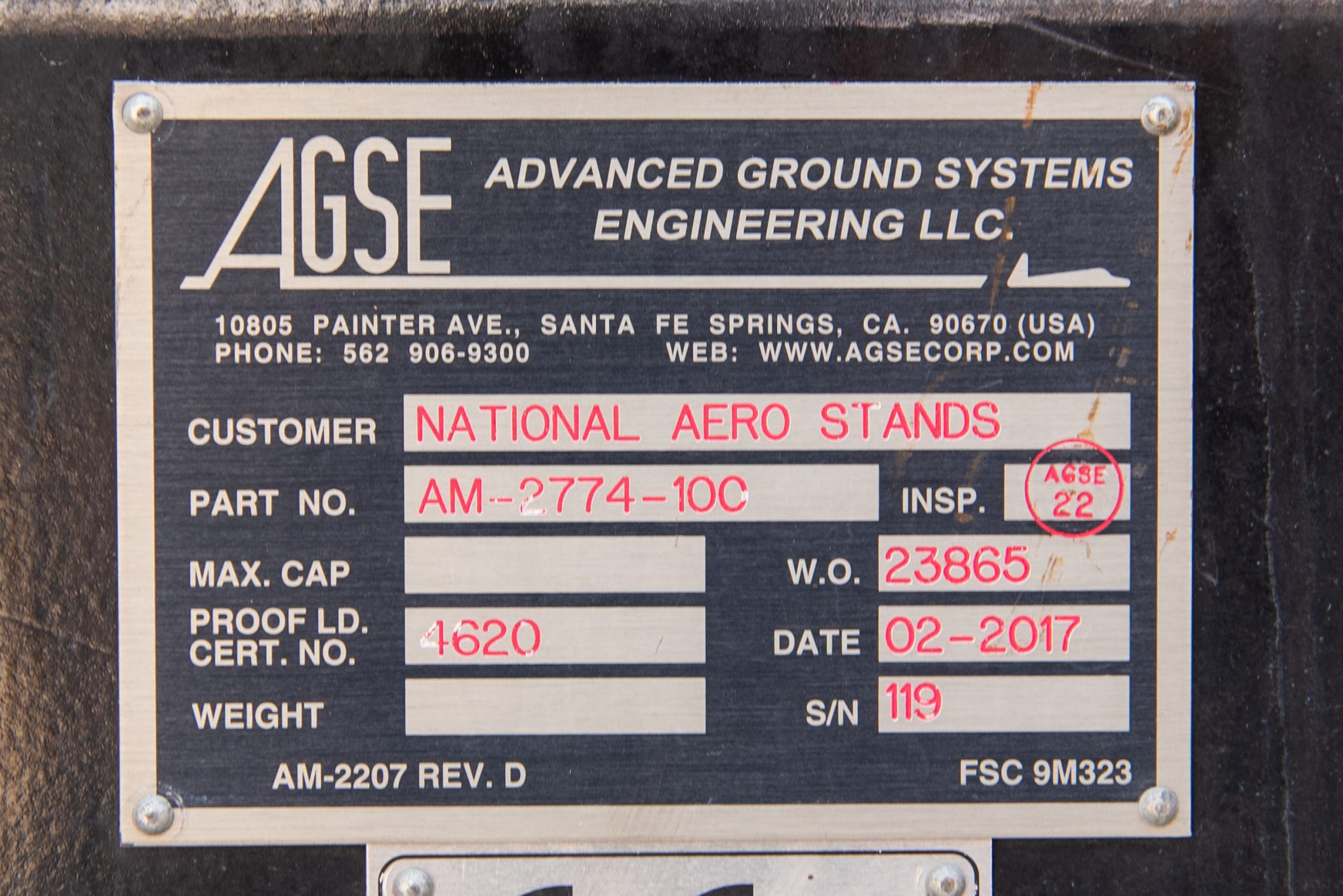 PW4090 serial number